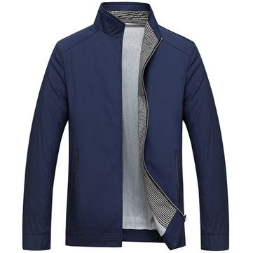 Business Casual Thin Stand Collar Solid Color Jackets for Mensales-NewChic  Mobile. 02ac3847ae