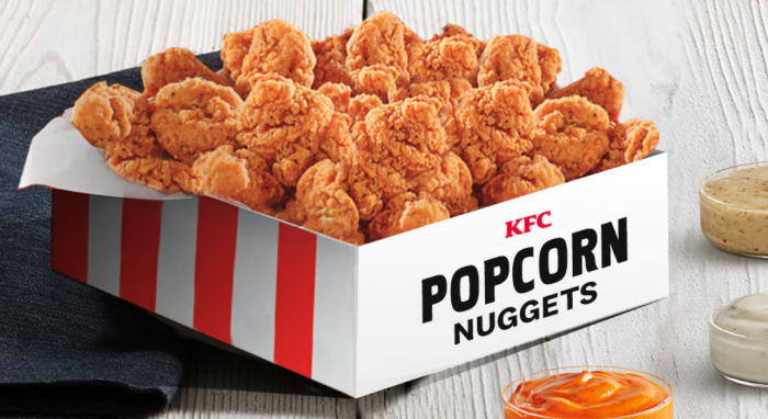 Kfc Is Selling A Giant Box Of Popcorn Chicken Nuggets For Just 10 And I M On My Way Popcorn Chicken Chicken Bucket Kfc