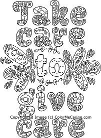 Colormecaring Com Provides Free Limited Edition Adult Coloring