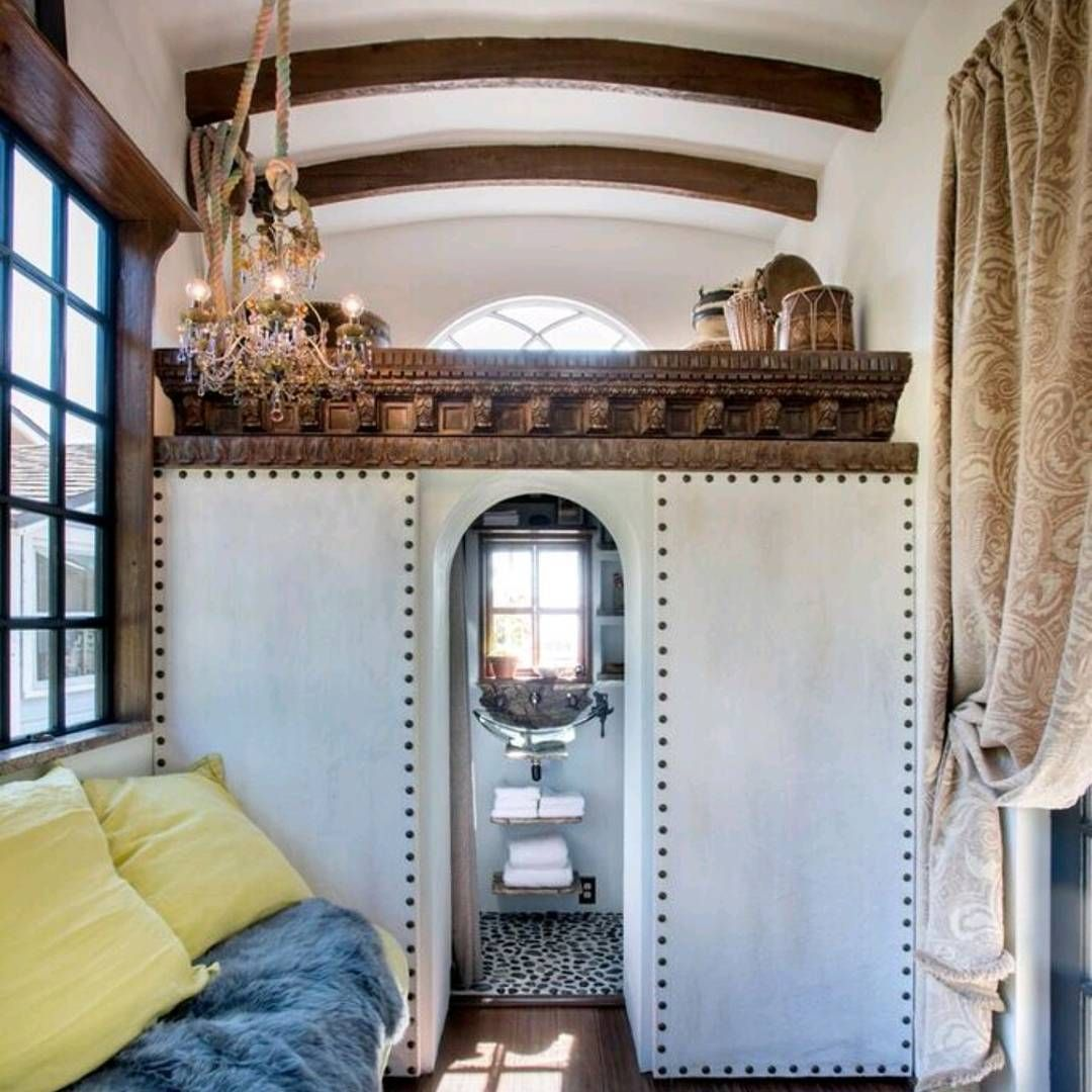 Loft bedroom with no door  Likes  Comments  Candace L tinyhousehawaiiliving on
