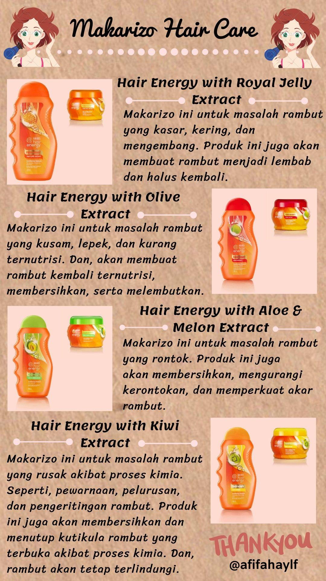 Hair Care Makarizo Hair Energy Di 2020 Merawat Rambut Kering Perawatan Rambut Alami Perawatan Rambut Rontok