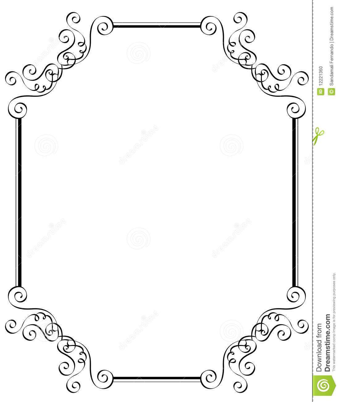 Free microsoft borders and frames wowcom image for Free printable disney wedding invitations templates