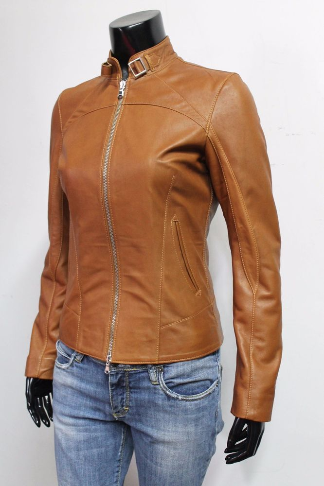 Womens TURQUOISE Real Leather Biker Jacket Italian Designer Slim Fit Zip Up Coat
