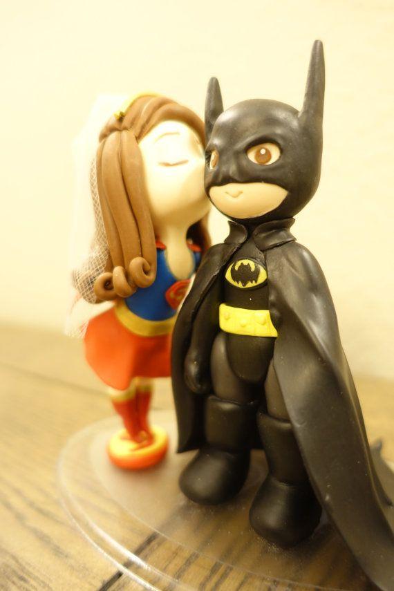 Cute mini Super Girl Art Doll Inspiration and Batman Art Doll ...