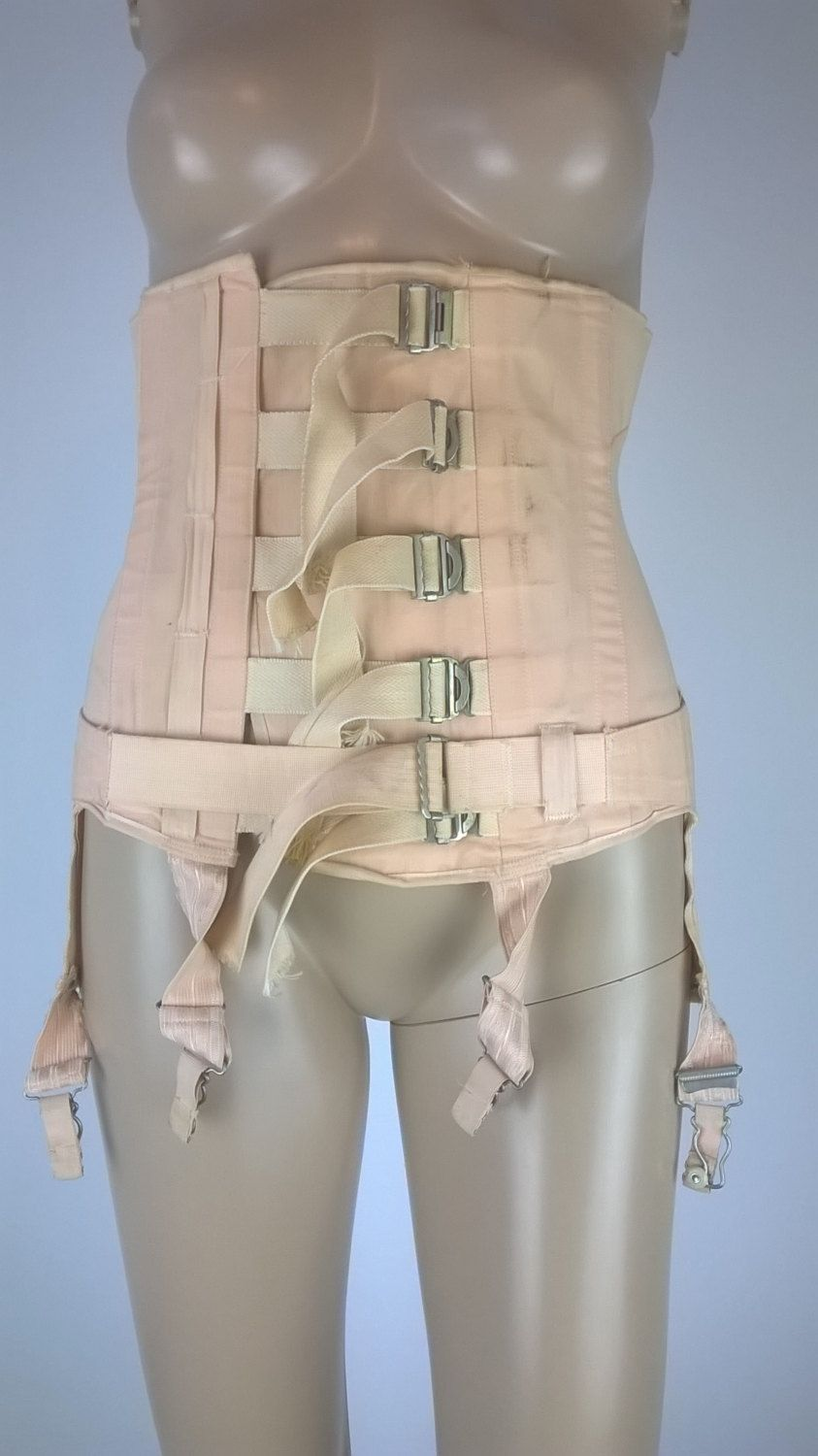 open bottom corset Vintage 1950s Boned Underbust Peach Corset 50s Surgical Corset Spencer Ltd Open  Bottom Girdle with Four Garters Six Straps Shapewear Small