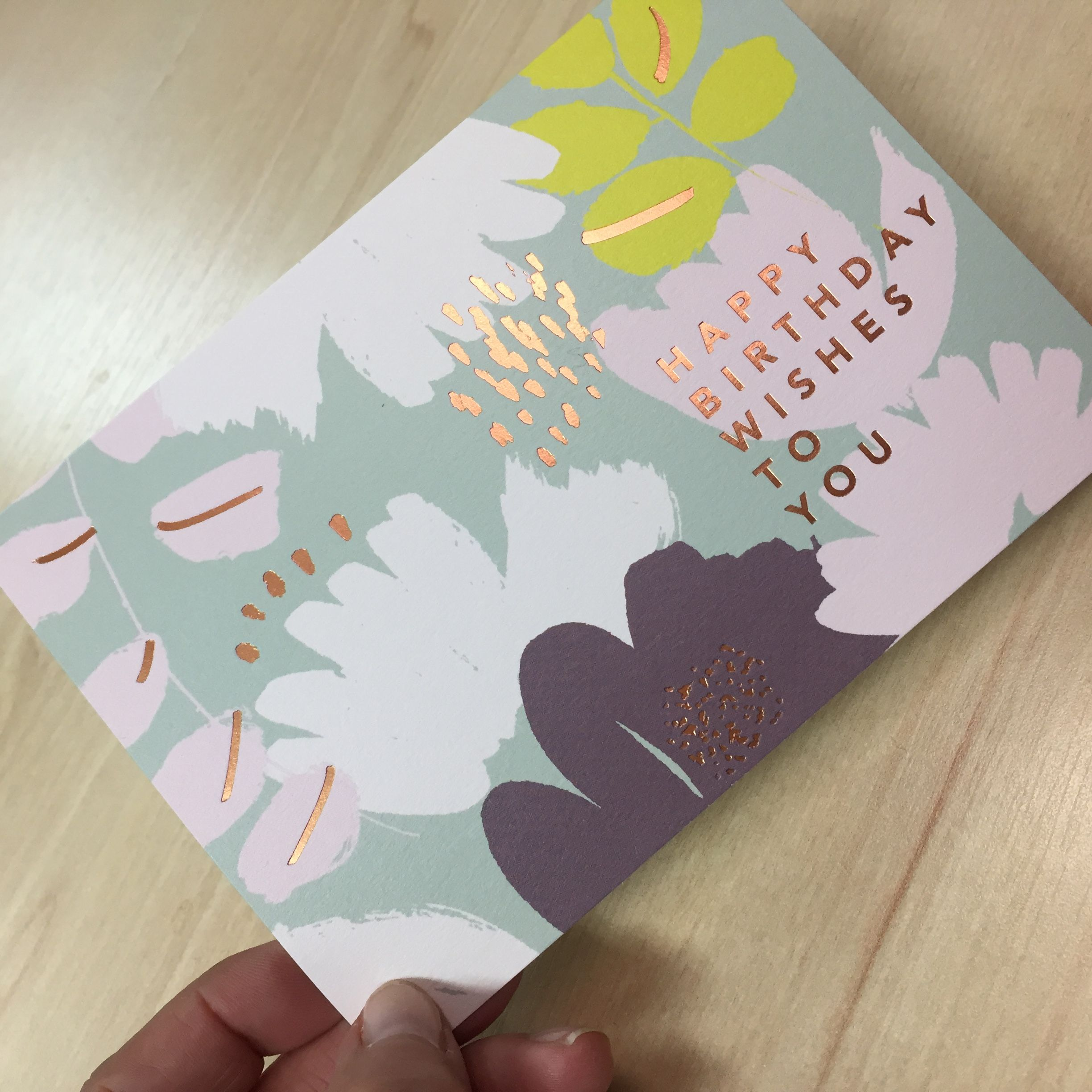 Loving the copper foil highlights on our new calico greeting cards