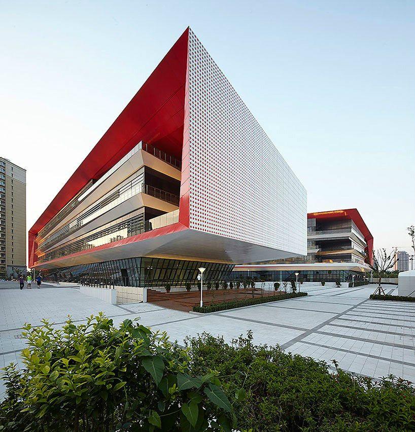 Binhai xiaowai high school is a sustainable high school for Sustainable architecture firms