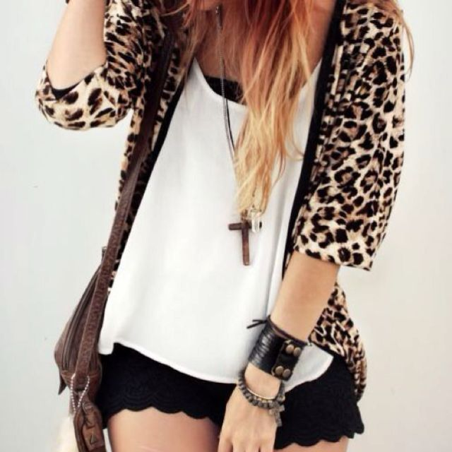 Love the shorts and leopard print