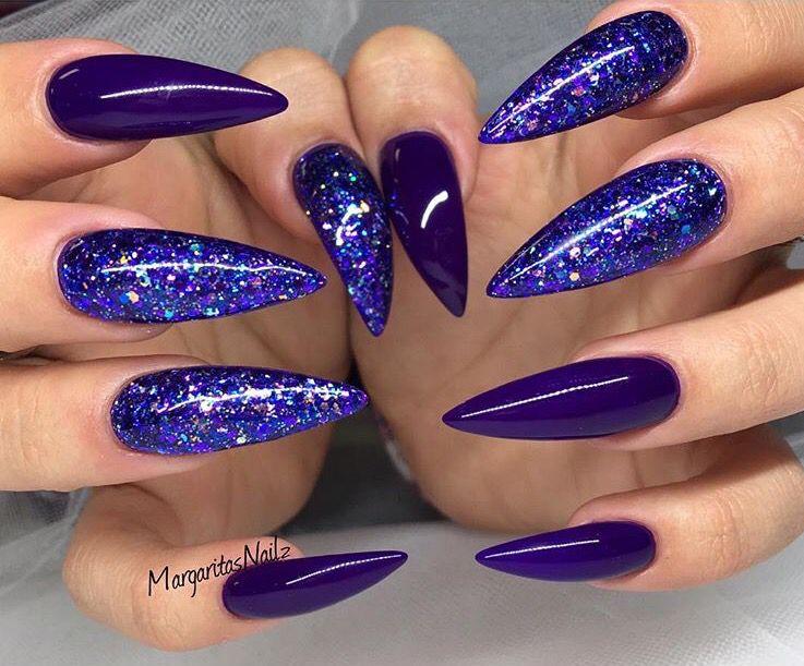Royal Purple Purple Nails Blue Nails Fun Nails