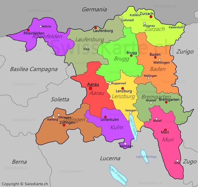 Mappa di Argovia map karte carte mappa Pinterest