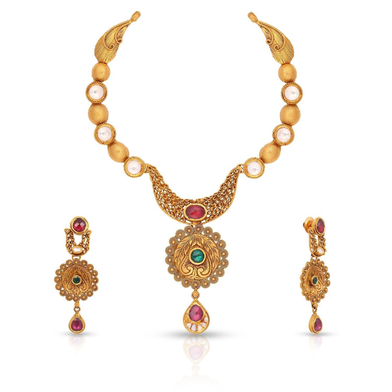 Malabar Gold Necklace Set ANDRSNRSO   Blings & Baubles   Pinterest ...