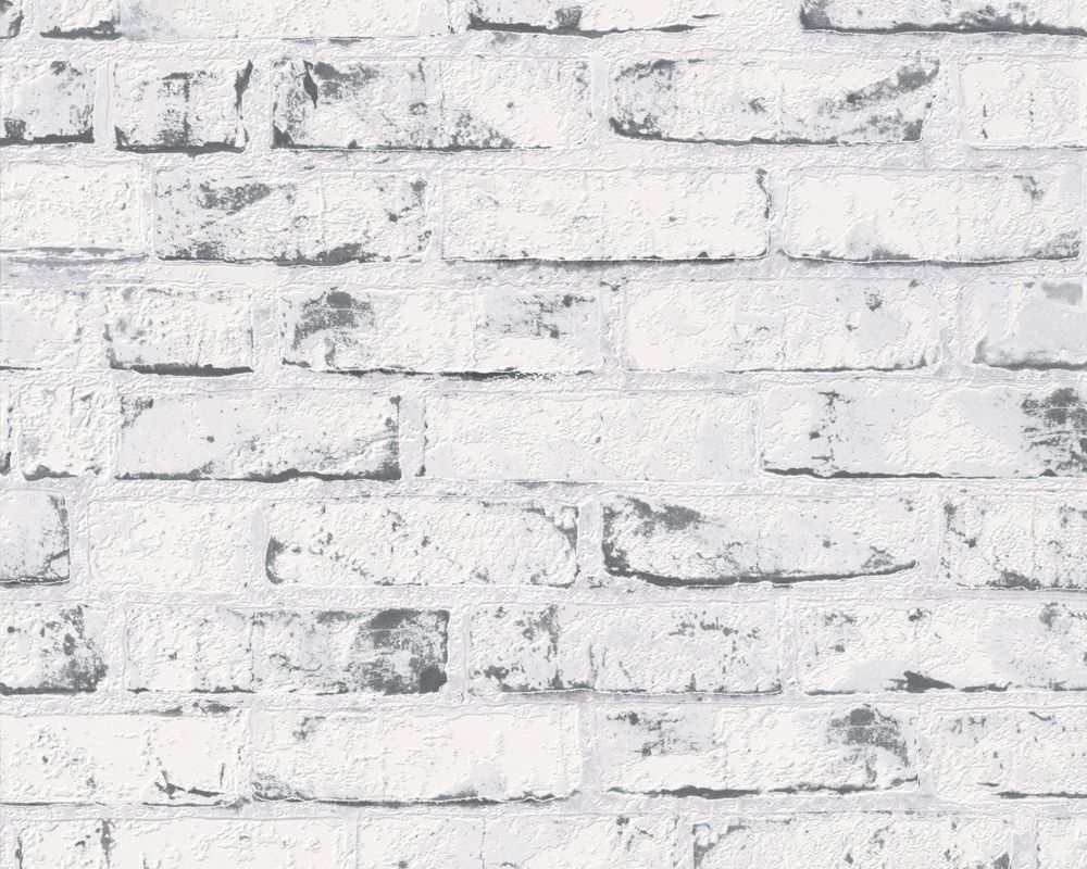 steintapete weiss, a.s. création vliestapete new england 2, beige, grau, 10,05 m x 0,53, Design ideen