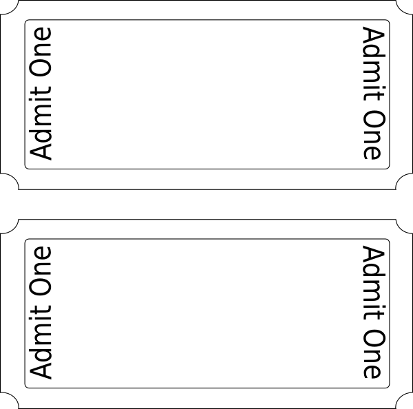 Superb Movie Ticket Clip Art   Vector Clip Art Online, Royalty Free . Idea Blank Admit One Ticket Template
