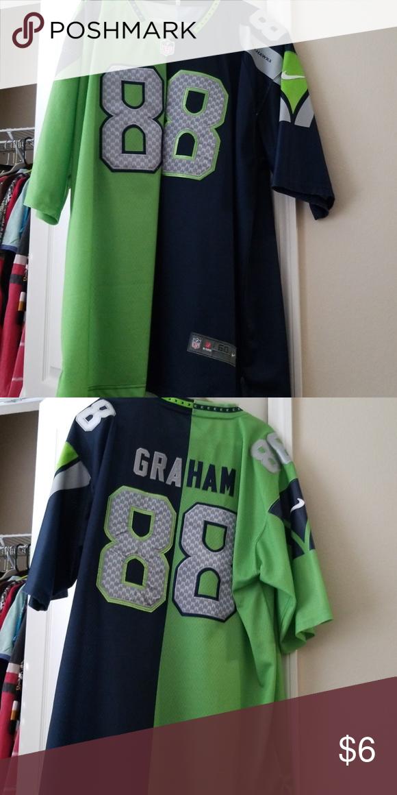 watch 2c4ce 19cba Seattle Seahawks replica jersey Graham Seattle Seahawks ...