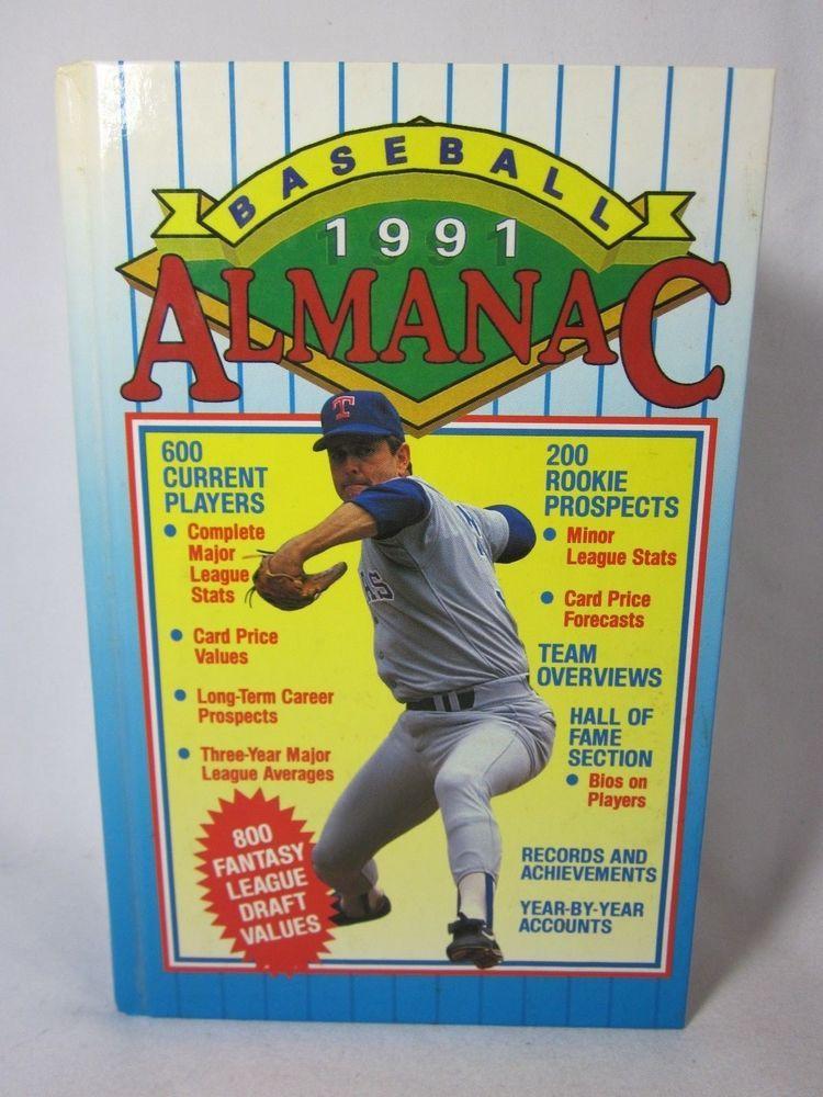 1991 baseball almanac nolan ryan cover nolan ryan