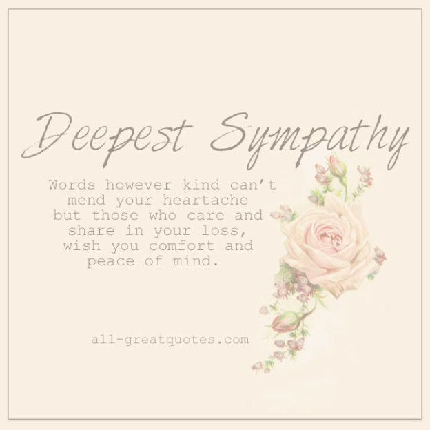 Deepest Sympathy Free Grief Loss Cards To Share Facebook With