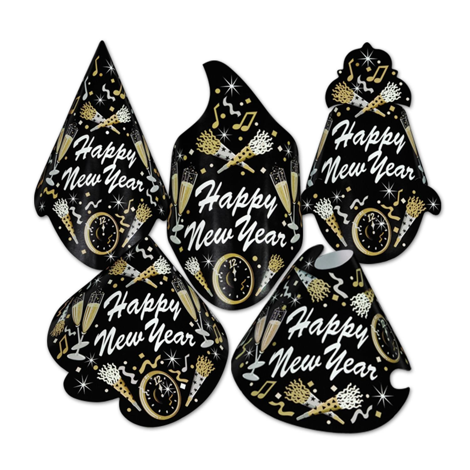 New Year Tymes Hat Assortment Beistle Party Supplies in