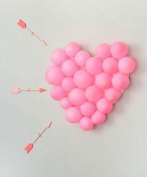 Corazon De Globos Para San Valentin Manualidades Decorativas Para - Decoracion-san-valentin-manualidades