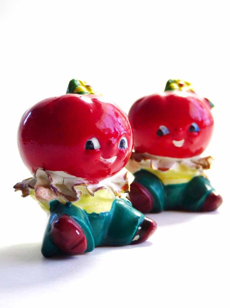 Vintage 1950s Anamorphic Tomato Big Head Salt & Pepper Shakers | Etsy