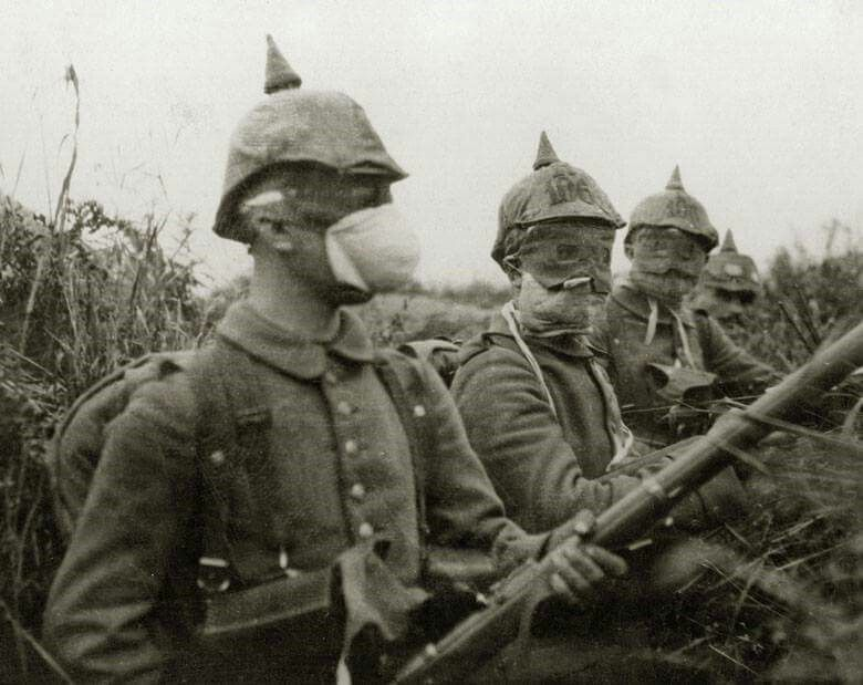 German soldiers with some early gas masks | The War To End All Wars | Pinterest | Wwi