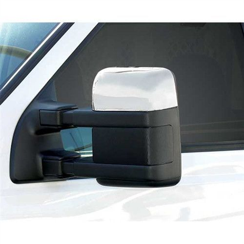 Chrome Plated ABS TOP HALF MIRROR COVERS For Ford F150 2015-UP