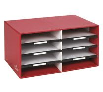 Office Max $17.00 Bankers Box 8 Compartment Literature Sorter