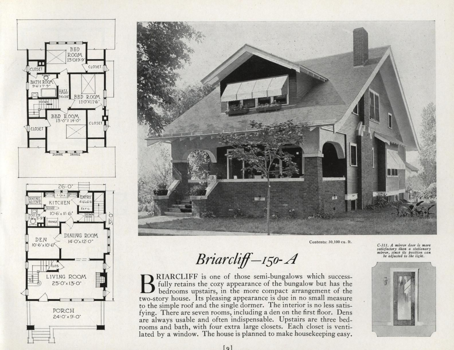 Home Plans Curtis Companies Inc Free Download Borrow And Streaming Internet Archive Vintage House Plans House Plans Craftsman Style Homes