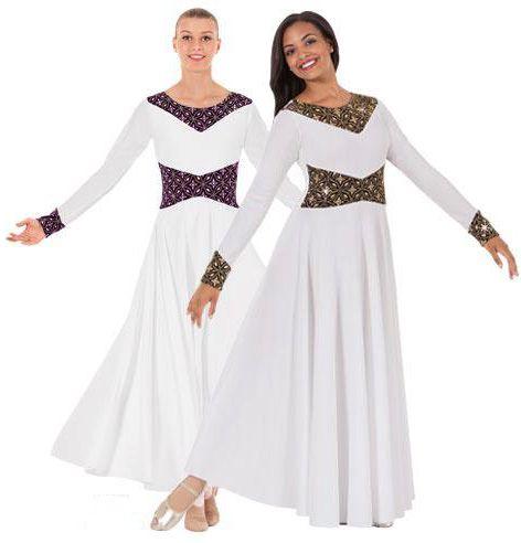 43866 Royalty Praise Dance Dress $45.00 - 43866 Royalty Praise Dance Dress $45.00 Worship Dance Dresses