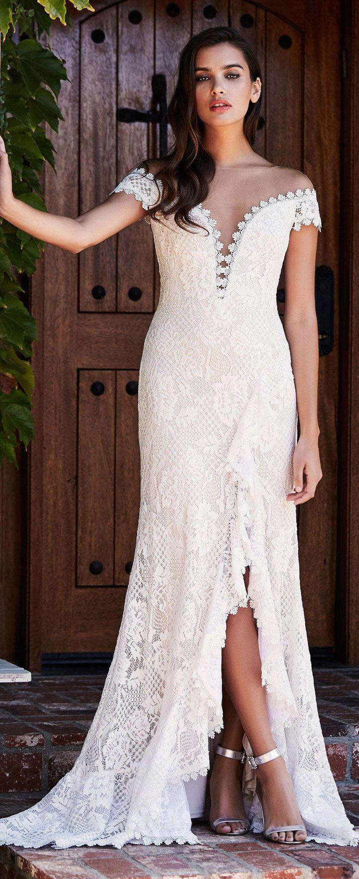 Tadashi Shoji Bridal Fall 2018 Wedding Dress Collection | Brautmode ...