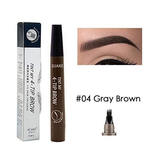 ROOYA BABY Eyebrow Tattoo Pen, Tattoo Augenbrauenstift,Waterproof Microblading Eyebrow Tattoo-Bleistift mit Fork-TIPP Long Lasting Augenbrauenstift für Naturhaarfrisur Defined Brows