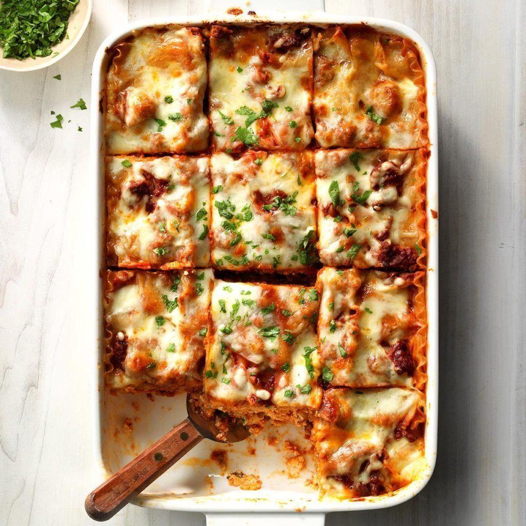 Makeover Traditional Lasagna   Recipe   Christmas eve dinner menu, Traditional lasagna ...
