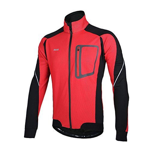 8a532da15 ARSUXEO Winter Warm Up Thermal Cycling Jacket Bicycle Clothing Windproof  Waterproof Jersey MTB Mountain Bike Jacket Size XXL     Click image to  review more ...