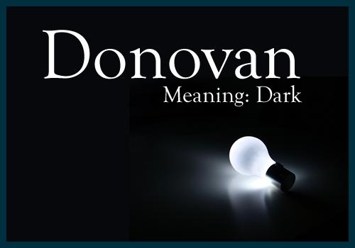 Donovan, Male Name, Meaning: Dark | Namesake | Fantasy names, Boy