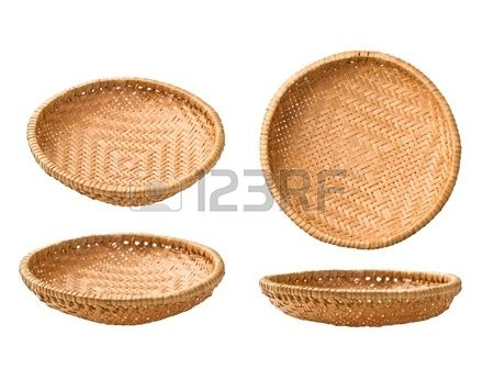 straw plate in different projections on a white background