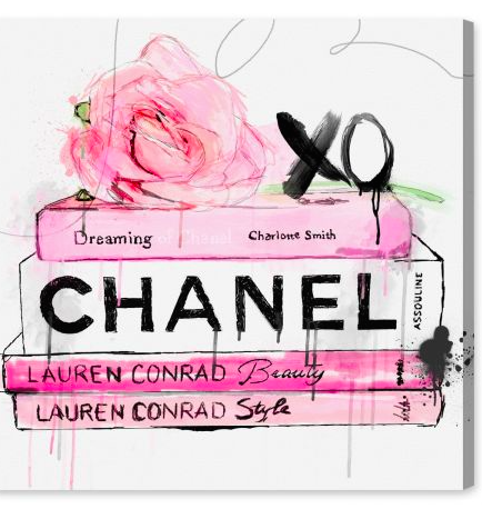 Pretty Art Is Always Good For The Soul Favorites Chanel Art Oliver Gal Rose Wall Art