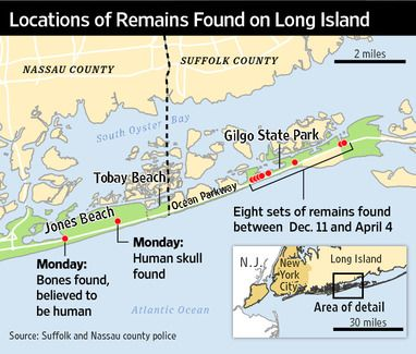 New Bones In Killing Probe Island Beach - Map of serial killers are active in the us