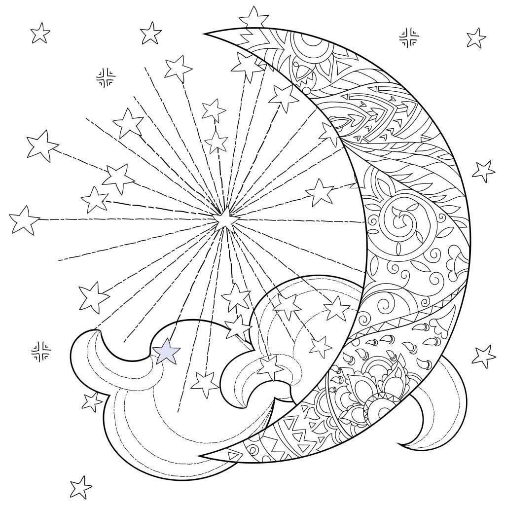 Pin By Summer Simpson On Coloring Pages Moon Coloring Pages Star Coloring Pages Mandala Coloring Pages