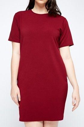 Strukturiertes Kleid, erhältlich ab Größe 44 unter ...
