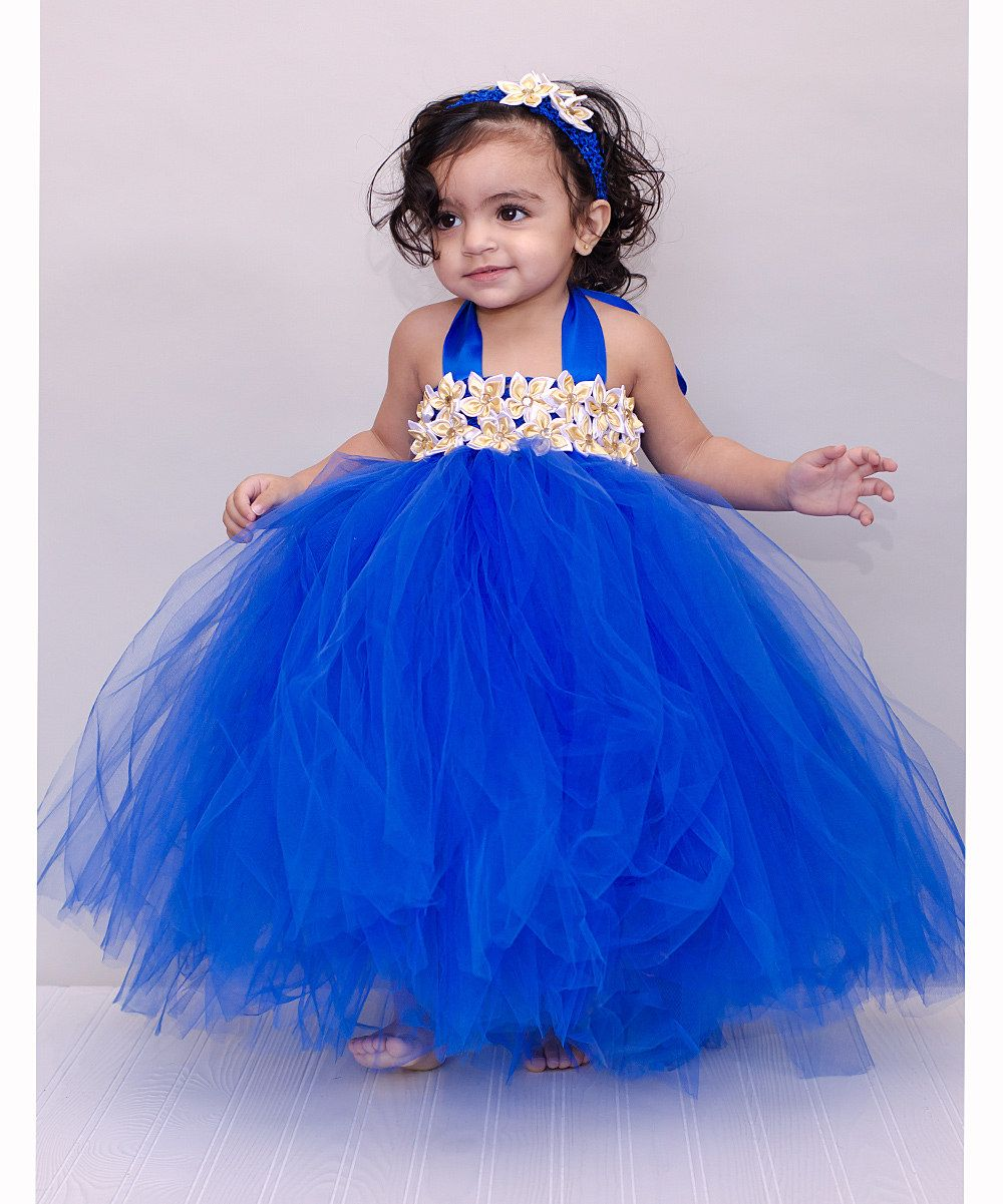 b17f0cbeb00e3 Royal Blue Garden Tulle Dress - Infant & Toddler | Baby Oh Baby ...