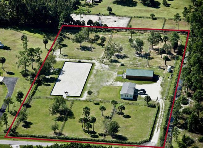 5acres loxahatchee florida equestrian horse farm for for Small horse farm plans