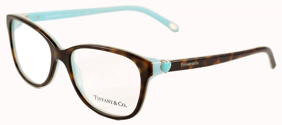 c43a80b4febe Tiffany   Co TF2097 8134 Havana Blue Heart Glasses
