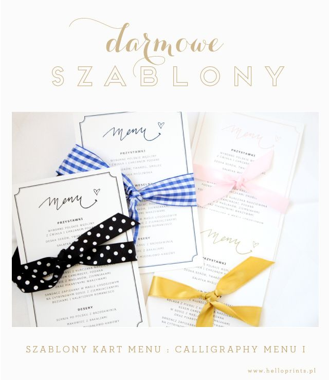 free printable wedding menu templates Darmowe projekty, wzory kart - free kids menu templates