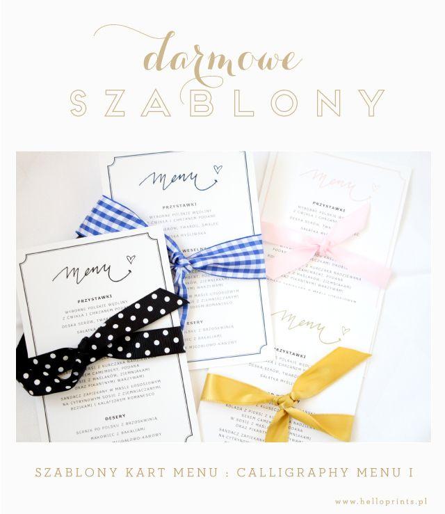meny kart free printable wedding menu templates Darmowe projekty, wzory kart  meny kart