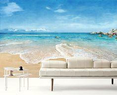 beach scene wallpaper epic sea wall mural blue ocean wall paper sky