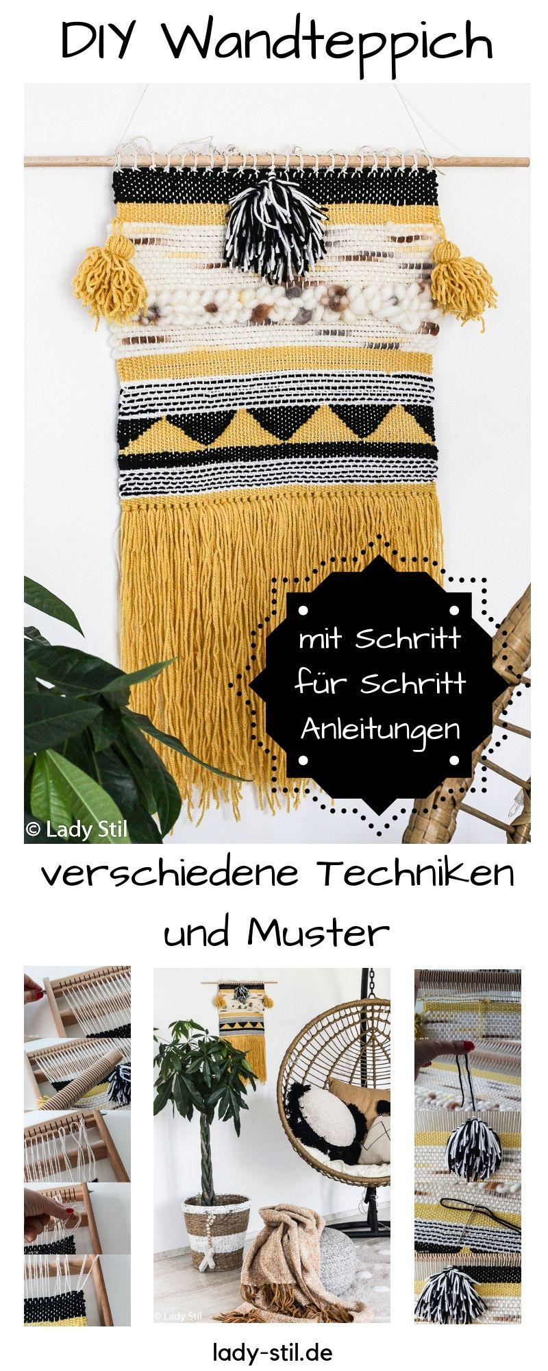 DIY Wandteppich weben - Interior DIY Wandteppich weben - Interior #diyinterior