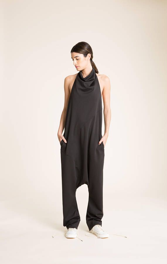 9196d9b029063 NEW Harem Jumpsuit   Women s Harem Pants   Black Romper