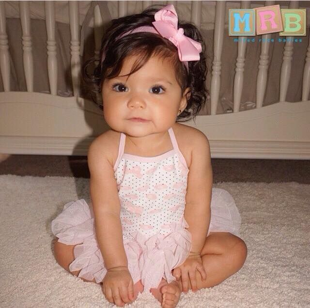 mexican caucasian african american camila 7 months mixed race