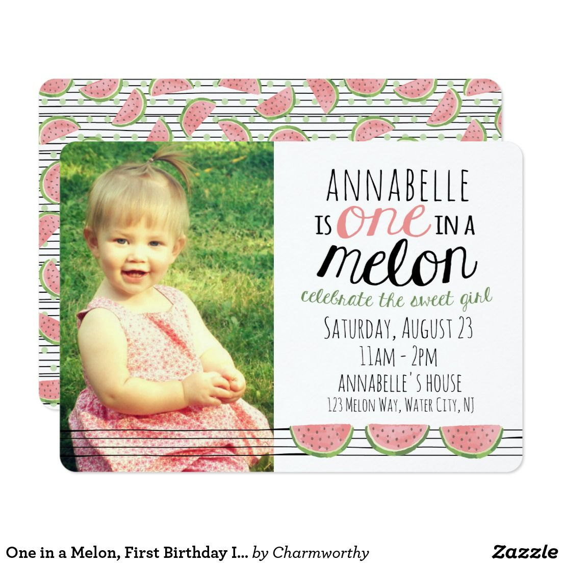 One in a Melon, First Birthday Invitation | Birthdays