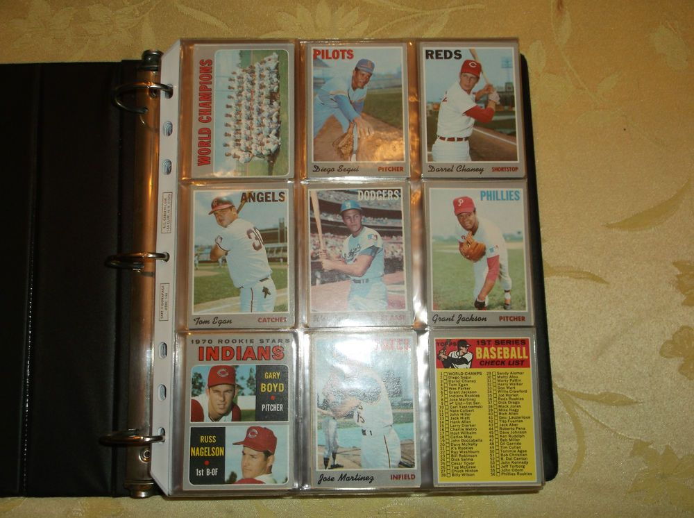 1970 topps baseball complete set bench mays rose clemente