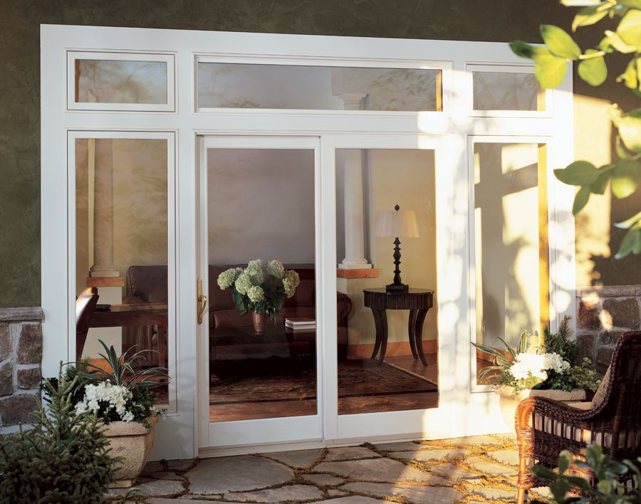 Exterior french doors photo gallery l wood patio doors l for Center sliding patio doors